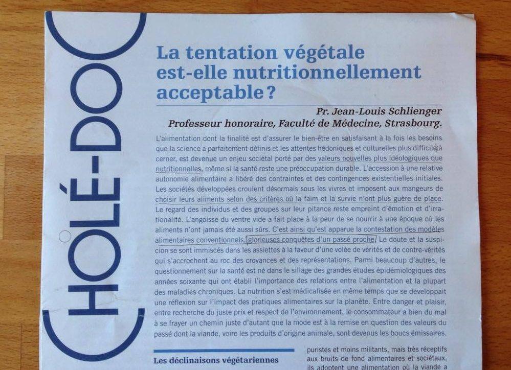 Cholédoc et la tentation végétale